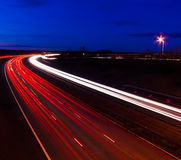 Headlight and tail light trails at night Royalty Free Stock Photo