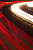 Headlight and tail light trails at night Stock Photos