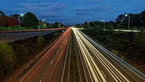 Headlight and tail light trails Stock Photos