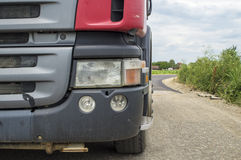 Headlight on a truck Stock Images