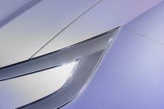 Headlight of ultra modern car stock image