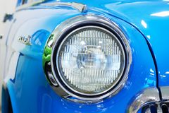 Headlight of Vintage Car stock photos
