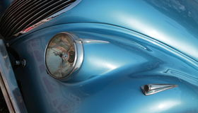 Headlight of Vintage car Stock Image