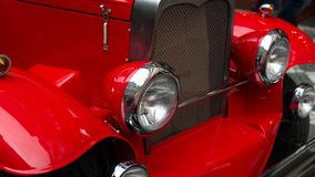 Headlight of a vintage car Royalty Free Stock Image