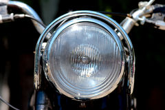 Headlight of vintage motor bike Stock Photos