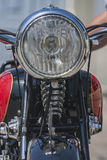 A headlight in a vintage motorcycle Royalty Free Stock Photos