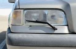 Headlight with wipers Stock Photography