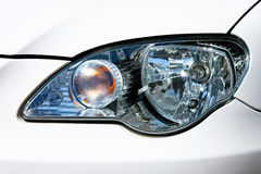 Headlights. Close up shot of front headlights reflectors royalty free stock photography