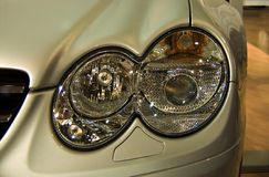 Headlights. Mercedes SL headlights Stock Photography
