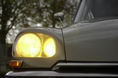 Headlights of a '73 Citroen D Stock Photography