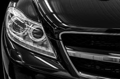 Headlights of business car. Stock Image