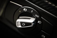 Headlights button Royalty Free Stock Photo