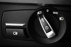 Headlights button Stock Images