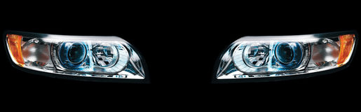 Headlights of Car Stock Photos