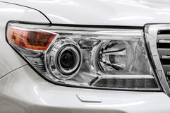 Headlights of car. Royalty Free Stock Photos