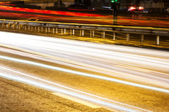 The headlights of cars Stock Photography