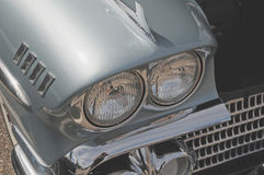 Headlights on a 1957 Chevrolet Stock Images