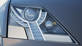 Headlights close-up Stock Photo