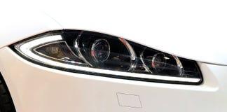 Headlights of Jaguar series XF Royalty Free Stock Image