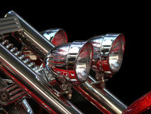 Headlights of luxury bike Royalty Free Stock Photography