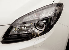 Headlights- new car detail Royalty Free Stock Photography