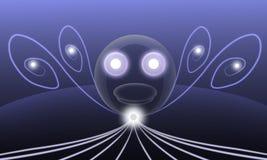 The headlights translucent abstract cartoon Royalty Free Stock Photo