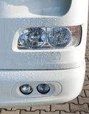 Headlights of a truck Stock Images
