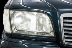 Headlights of vintage business car. Royalty Free Stock Images