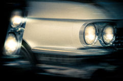 Headlights of a vintage cars. Royalty Free Stock Images