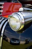 Headligth in old black car royalty free stock photo