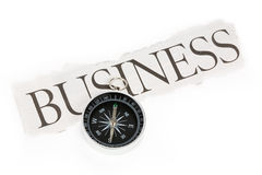Headline business and Compass Stock Image