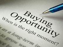 The headline of the buying opportunities Royalty Free Stock Photos