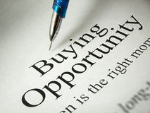 Buying Opportunity Stock Photography