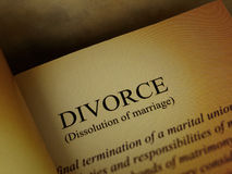 The headline of the divorce book Royalty Free Stock Photography