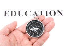 Headline education and Compass Stock Images