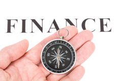 Headline finance and Compass Stock Photos