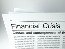 Financial crisis - Headlines. Visualizing a press report concerning the financial crisis Stock Photos