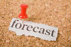 Headline forecast. Concept of forecast stock photography