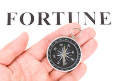 Headline fortune and Compass Royalty Free Stock Images