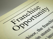 The headline of the franchise opportunities Royalty Free Stock Photos