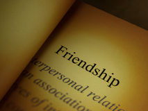 The headline of the friendship book Royalty Free Stock Photography