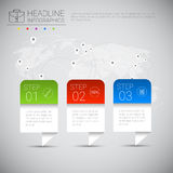 Headline Infographic Design Business Data Graphic Collection Over World Map   Royalty Free Stock Image