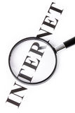 Headline internet and magnifier royalty free stock image