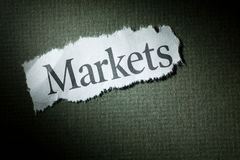 Headline Markets. Concept of Markets Royalty Free Stock Image
