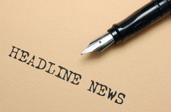 Headline news Royalty Free Stock Photo