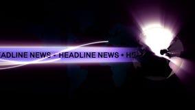 Headline News Global background Royalty Free Stock Photos