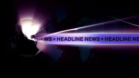 Headline News Global background Stock Photo