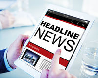 Headline News Top Stories Online Concepts stock image