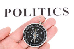 Headline politics and Compass Royalty Free Stock Photo