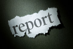 Headline Report. Concept of News Report Royalty Free Stock Photo